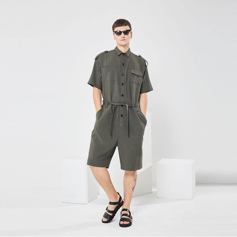 S 5XL!!Catsuit men's style trend casual men's summer thin style European and American street photography