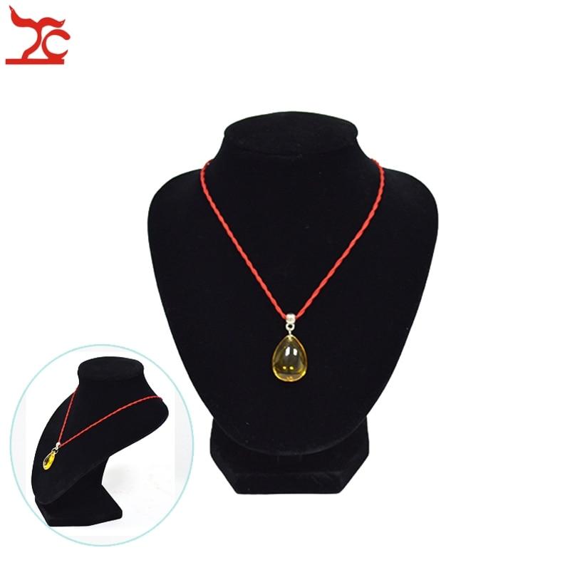 Wholesale Jewelry Display Bust 5Pcs Black Velvet Mannequin Pendant