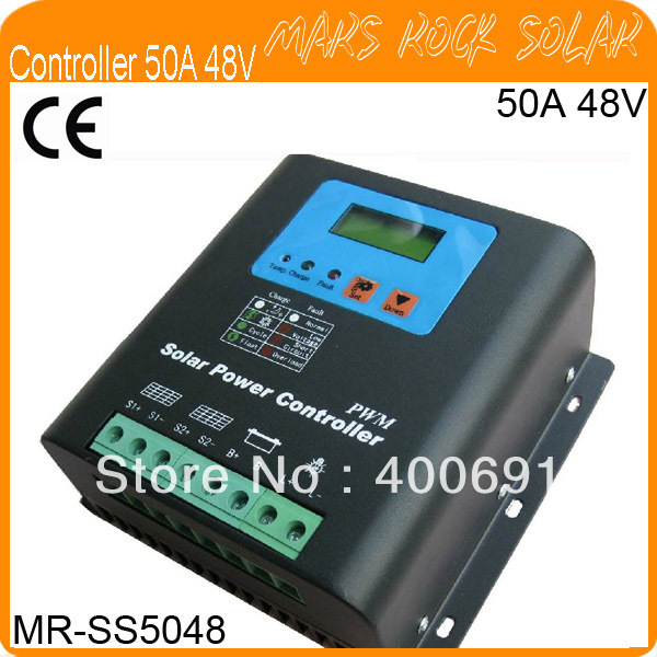 50A 48V PWM Solar Controller Regulator with Metal Shell,LCD Liquid Crystal Display,Temperature Compensate,Excellent performance50A 48V PWM Solar Controller Regulator with Metal Shell,LCD Liquid Crystal Display,Temperature Compensate,Excellent performance