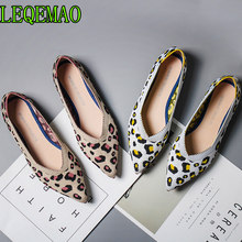 2019 New Spring Women Flats Shoes Leopard Print Women Shoes Casual Single Shoes Ballerina Women Shallow Mouth Shoes(China)