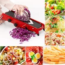 Kitchen Vegetable Fruit Chopper Cutter Cocina Multi-Function Slicer Food Shredder Adjustable Stainless Steel Grater Gadgets Tool недорого