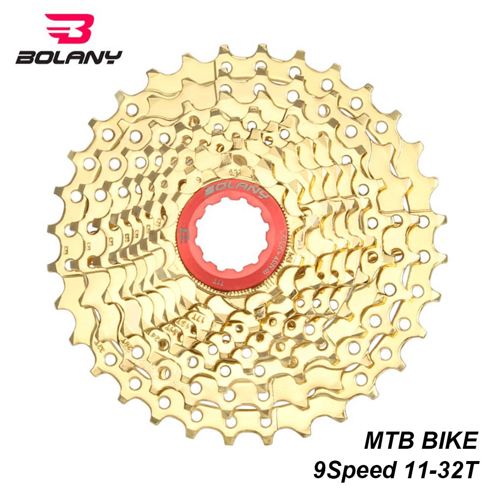 NEW Gold SUNSHINE MTB Bicycle 9 Speed 11-32T Cassettes Mountain Bike 9S Cassette