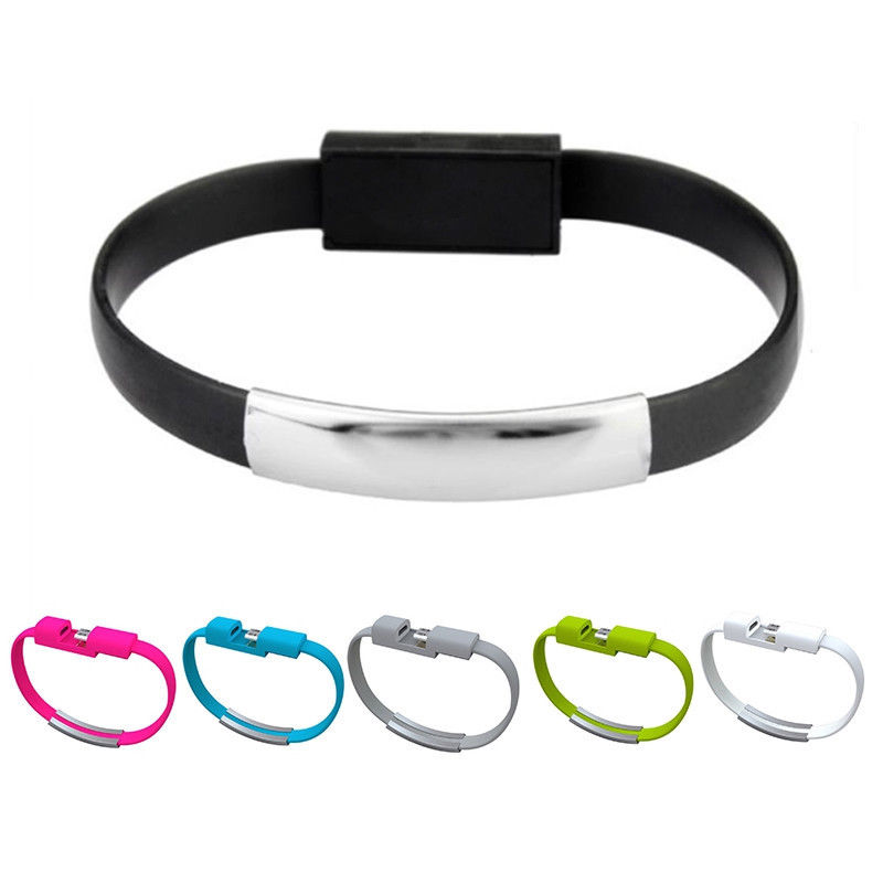 Hot Bracelet Micro USB Cable Wire Sync Data Charger Cord USB Type C Cable For IPhone 5 5s 6 6s 7 Plus X For Samsung S6 S7 Xiaomi