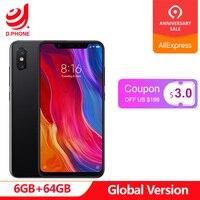 Original Global Version Xiaomi Mi 8 Mi8 Snapdragon 845 6GB RAM 64GB ROM 4G TD LTE Mobile Phone AI 20.0MP Face Unlock NFC Smart