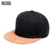 Marken NUZADA 2017 Herbst Kork Mode Einfachen Männer Frauen Hut Hüte Baseballmütze Hip Hop Hysterese Einfache Klassischen Caps Winter