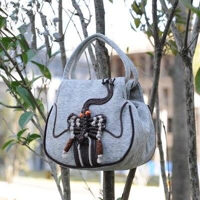 Carrier String Clutches Shopping-Handbag Canvas Small Mini Fashion Women Day Appliques