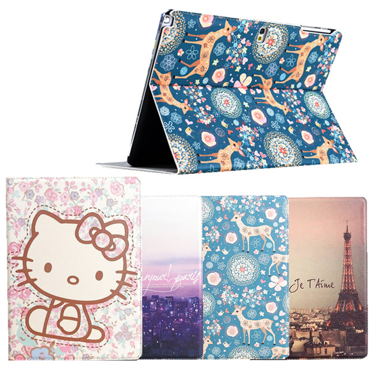 Fashion painted Pu leather stand holder Cover Case For Samsung Galaxy Tab 2 P5100 P5110 P5113 10.1 inch Tablet + Gift fashion painted flip pu leather for samsung galaxy tab 2 7 0 p3100 p3110 7 0 inch tablet smart case cover gift