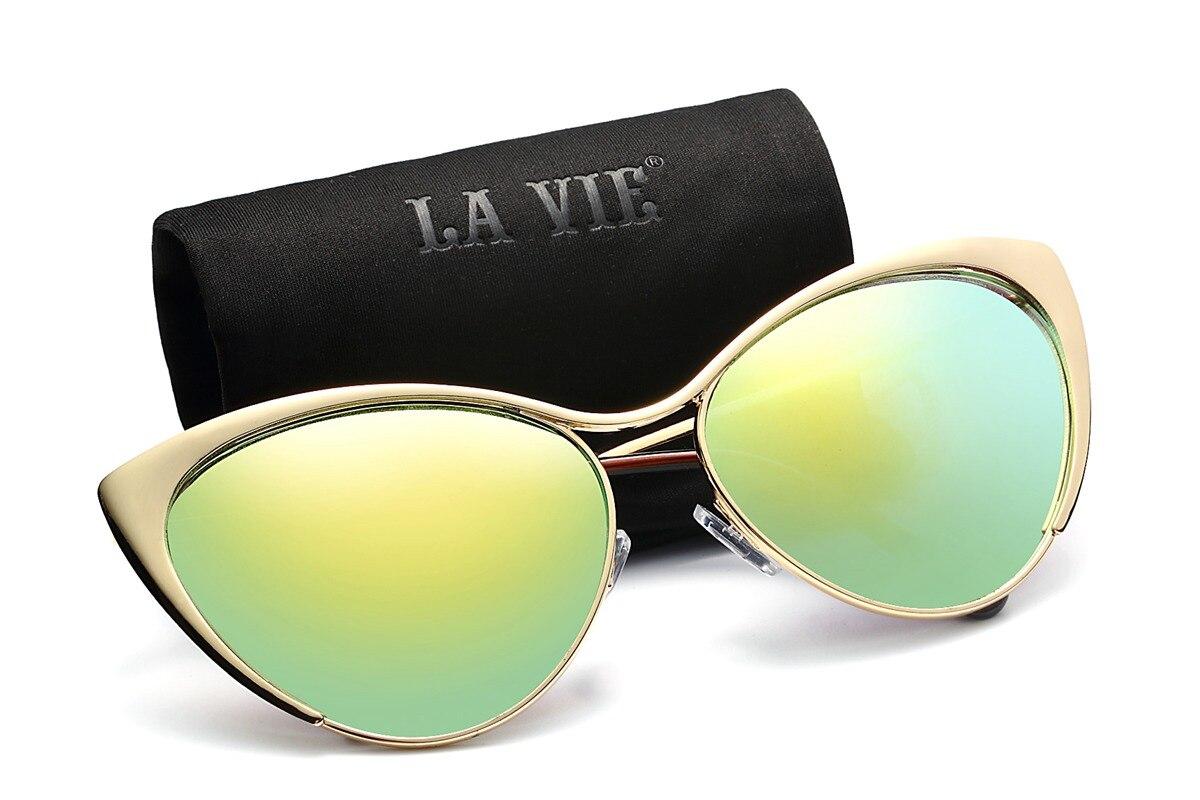 Sluneční brýle Cateye Women Shadow Sun Brýle Mirror Sluneční brýle Ženy Brýle Designer Oculos De Sol Feminino Gafas De Sol Mujer