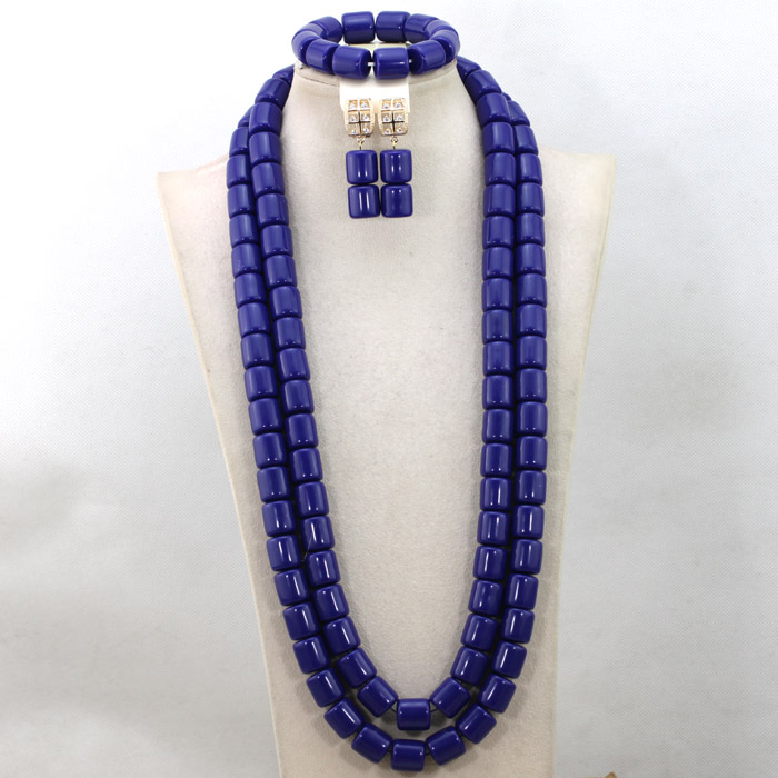 Gorgeous Nigerian Blue Coral Beads Jewelry Set Nigerian Women Wedding Bridal Necklace Earring Set Wholesale Free Shipping QW712Gorgeous Nigerian Blue Coral Beads Jewelry Set Nigerian Women Wedding Bridal Necklace Earring Set Wholesale Free Shipping QW712