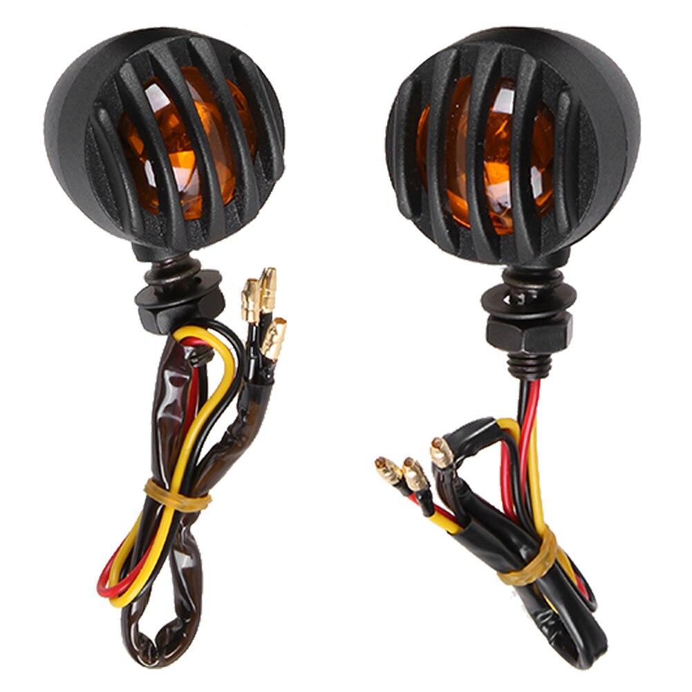 1 пара мотоцикл черный Гриль сигнала поворота тормоз остановить запуск хвост света 12V мотоцикла автомобиля задний противотуманный фонарь задний спойлер