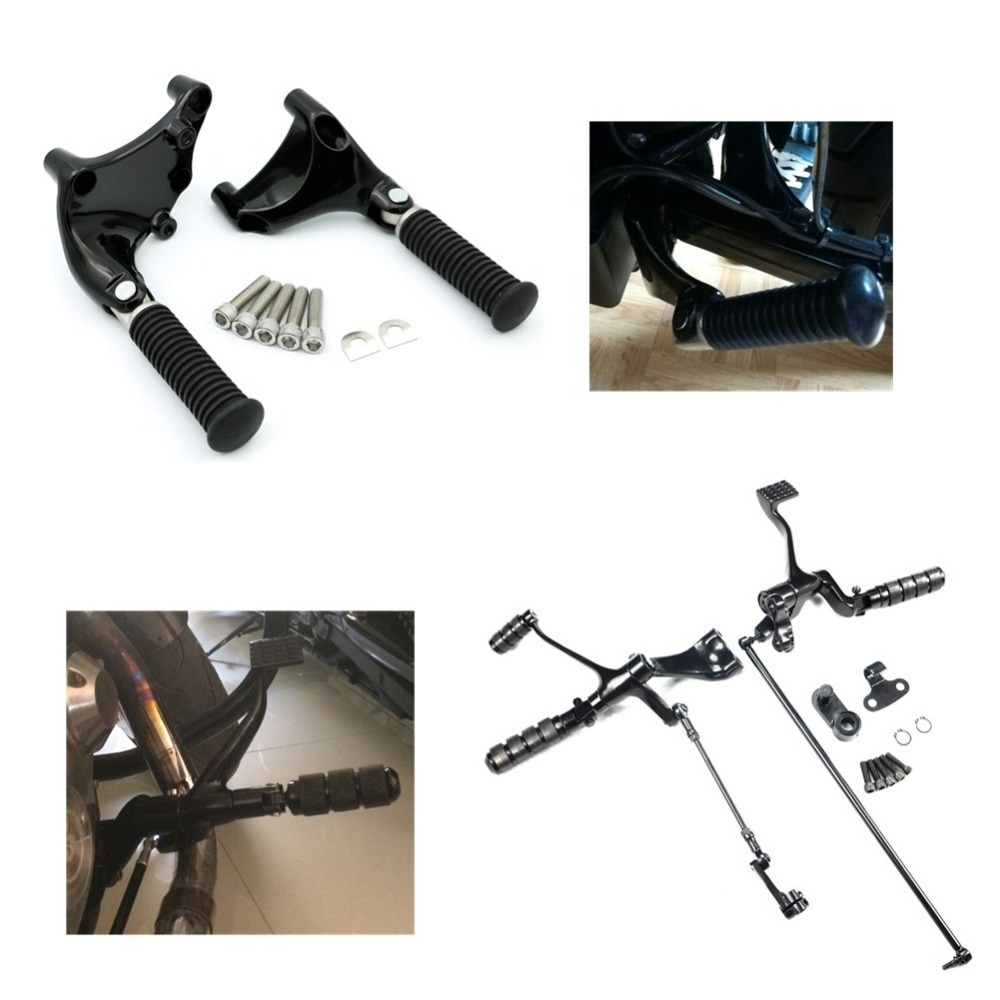 Foot Pegs Pedal For Harley Sportster XL 883 1200 48 72 14-17 Forward Controls Pegs Levers Linkages &Passenger Footpeg Mount Kit
