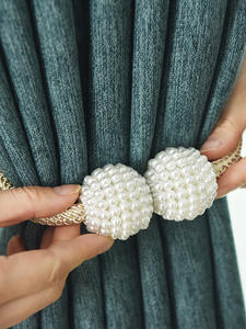 Tieback-Buckle-Clips Curtain-Accessories Hanging-Ball Pearl Magnetic Home-Decor 1x
