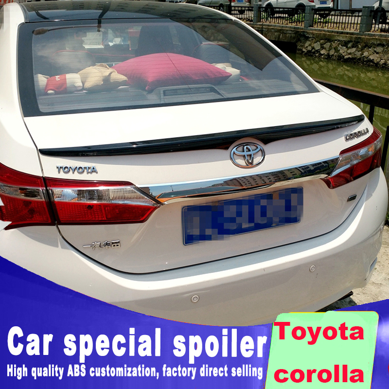 New design For <font><b>Toyota</b></font> <font><b>corolla</b></font> 2014 <font><b>2015</b></font> 2016 2017 2018 year rear trunk wing <font><b>spoiler</b></font> tail high quality ABS by primer paint color image