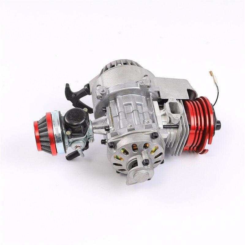 Mini vélo de poche Minimoto haute Performance refroidi par Air 49cc moteur de course ATV Dirt Pitbike vélo de poche rouge