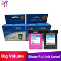 2pcs Ink Cartridge for hp122 Compatible for HP Deskjet 1000 1050 2000 2050 2050s 3050A 3052A 3054 1010 1510 2540 for HP 122