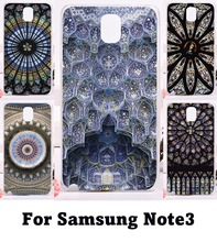 Phone Cover For Samsung Galaxy Note III 3 Note3 CaseS Cover Amazing Geometric Design Colourful Church Roof Hard and Silicon Skin