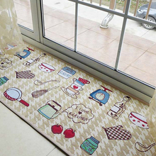 Yazi Jacquard Tema Comida Alfombra Tapete de Tela Suave Casa I amor de Piso de la Cocina Estera Antideslizante Alfombra 4 Tamaño Casa decoración