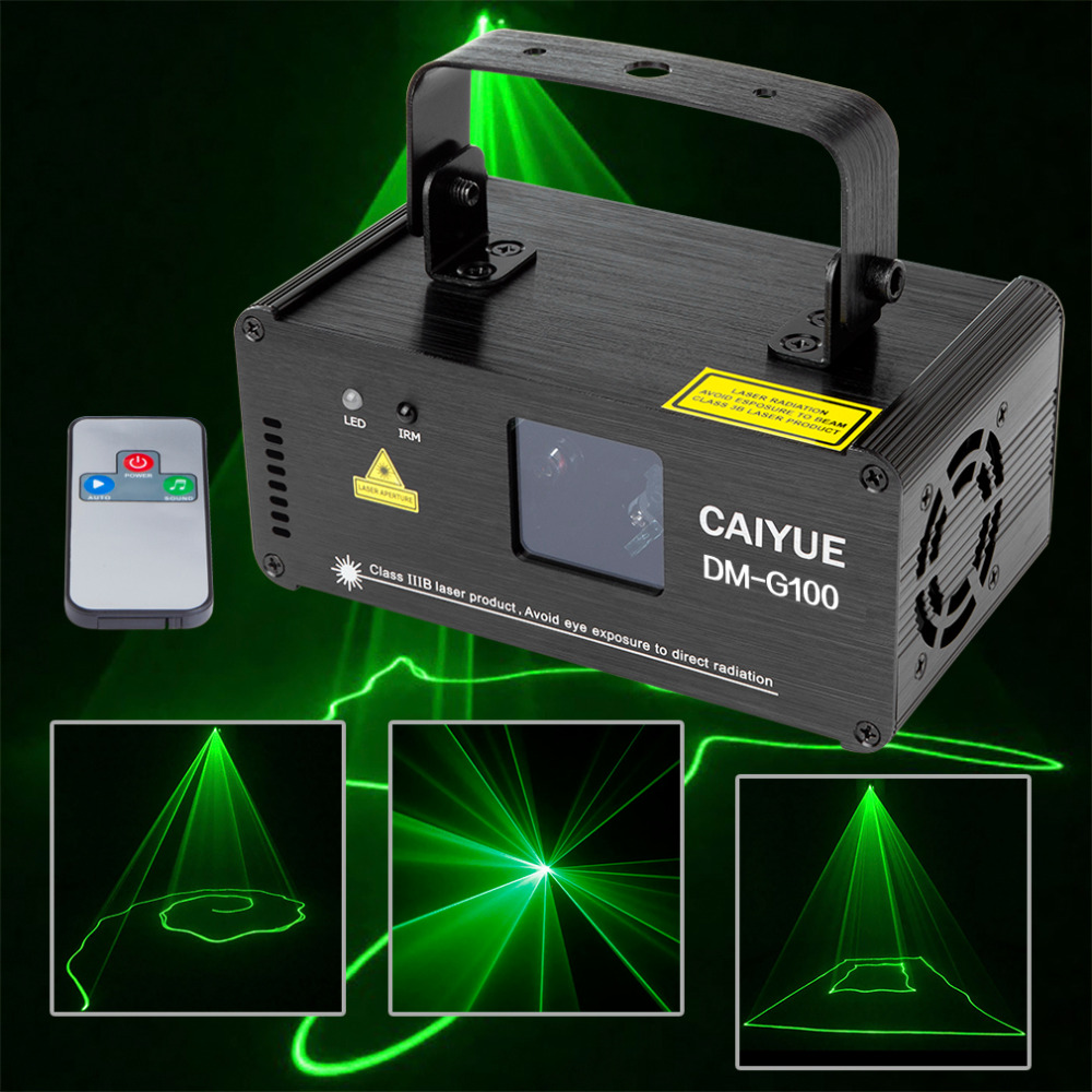 Remote DMX 100mW Green Laser Stage Lighting Scanner Effcet Xmas Bar Dance Party Show Light DJ Disco Laser Projector Lights show new mini red blue line pattern gobo remote laser projector dj club light dance bar party xmas disco effect stage lights show b55