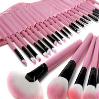 High Quality Professional Pink Makeup Cosmetic Blush Brush Kit 32 Pcs Set Soft Makeup Brush Tools