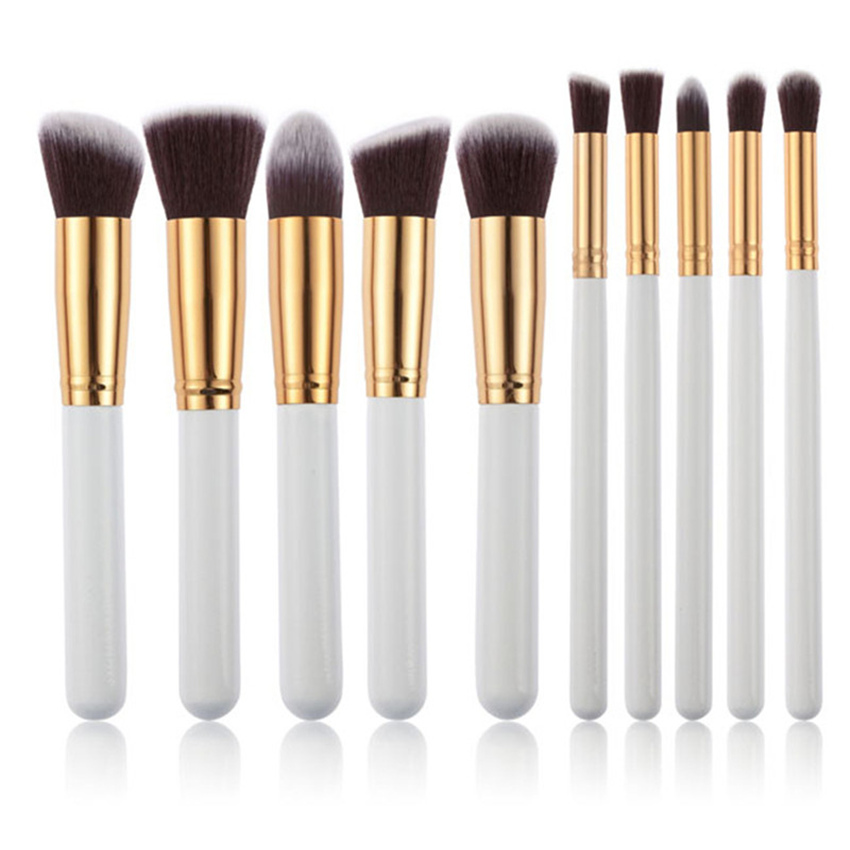 10Pcs/lot New Professional Makeup Brush Kits Foundation Powder Blush Eyeshadow Make Up Brushes for Women's Beauty Tool Big Size very big beauty powder brush blush foundation round make up tool large cosmetics aluminum brushes soft face makeup free shipping