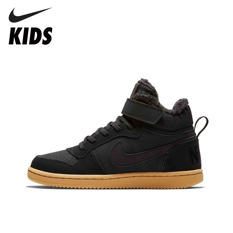 NIKE COURT BOROUGH MID WTR PSV Toddler Kids Sports Running Shoes Breathable Outdoors Sneakers AA5648 сникеры nike сникеры wmns nike court borough mid