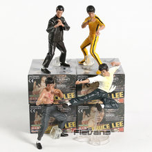 Bruce Lee Figuur Enter The Dragon Fist of Fury Manier van de Draak Game of Death Bruce Lee Model Speelgoed 4 stks/set(China)