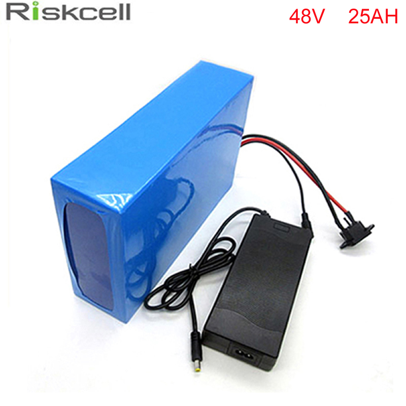 ebike lithium battery 48v 25ah lithium ion battery 48v 1000w  electric scooter battery for kit electric bike with BMS , Charger купить