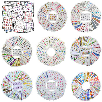 Wholesale Mixed Nail Stickers Sets Water Transfer Decals Flower Lace Cartoon Designs Slider Manicure Foils Nail Art Decoration kads 35sheets new design flower cartoon lace water nail stickers water transfer nail art decals beauty full wraps manicure