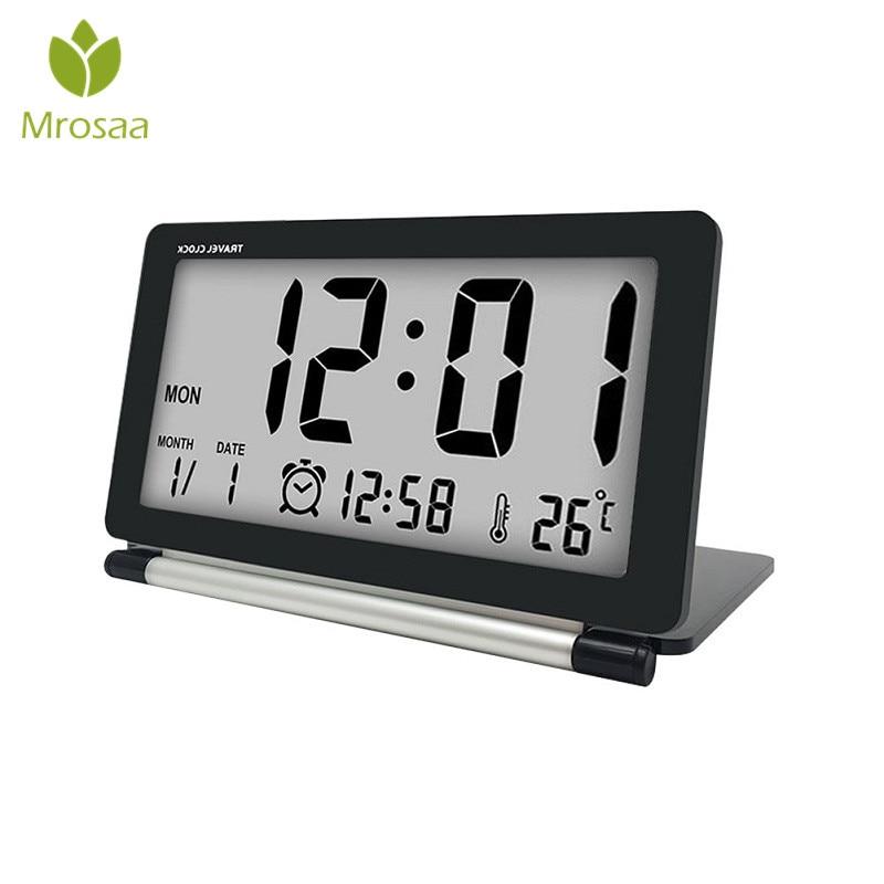 Hot Electronic Alarm Clock Travel Clock Multifunction ...