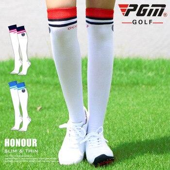 Pgm Golf, calcetines elásticos hasta la rodilla, mallas de tenis transpirables para mujeres, medias para Golf, Running, deporte, al aire libre, calcetines de pierna D0373