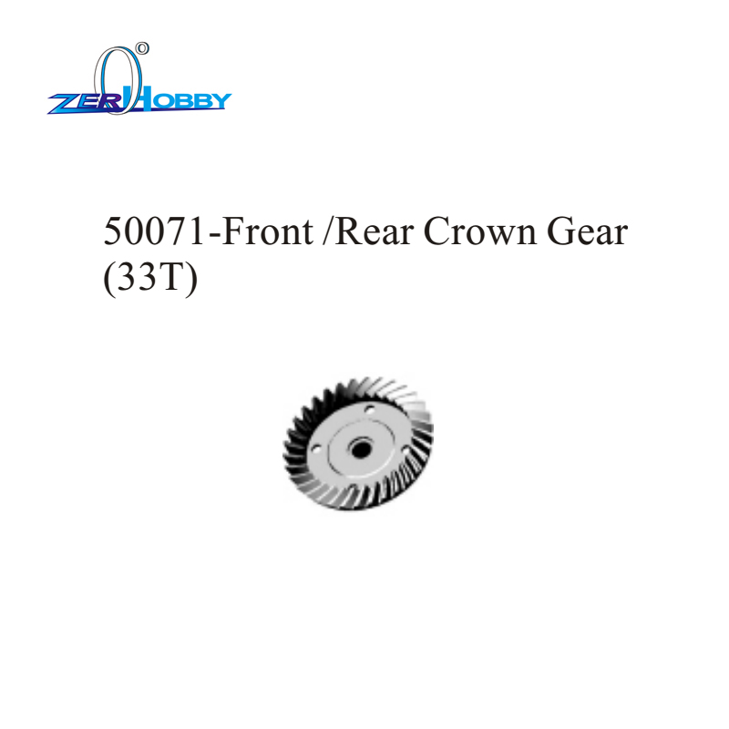 HSP RACING RC CAR ORIGINAL ACCESSORIES SPARE PART NO. 50071 FRONT REAR CROWN GEAR 33T FOR 1/5 SCALE ELECTRIC POWER BUGGY 94077 image