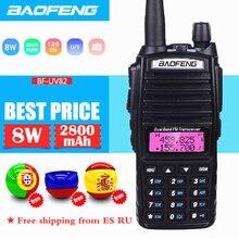 Baofeng UV 82 Walkie Talkie 10 км двухсторонний радиоприемопередатчик CB Ham Радио любительский для VHF UHF двухдиапазонный UV-82 двухсторонний радиоприемник