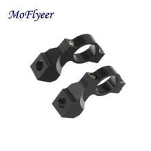 MoFlyeer New Pair 10mm 7/8 Motorcycle Solid Color Handlebar Mirror Mount Holders Adapter Aluminum Clamp