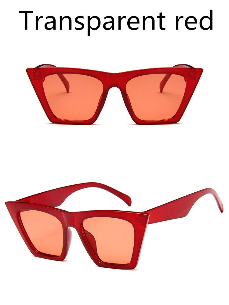 ASUOP2018 New ladies retro cat eye glasses high-end brand travel fashion men's sunglasses sports square UV400 transparent sunglasses (6)
