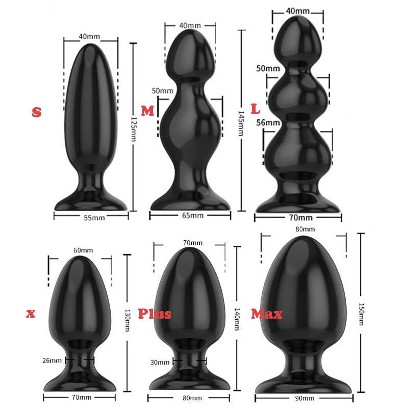 6 Sizes Smooth Soft Huge Anal Plug Anal Beads Butt Plug Dildo Anal Dilatador Adult Sex Toys For Men Prostate Massage Women Gay