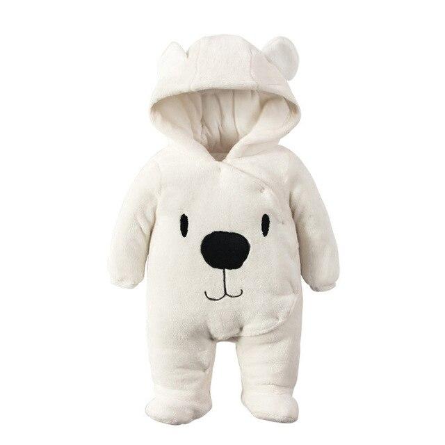 langlebig im einsatz besserer Preis Ausverkauf US $28.39 |Warme Baby Strampler Winter Baby Kleidung für Neugeborene Fleece  Kostüm Bär Baumwolle gefütterte Overalls Overalls Tier Junge Mädchen ...