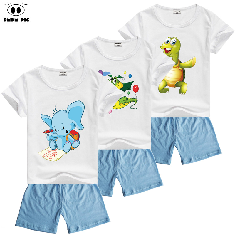 DMDM PIG Summer Cartoon Kids Clothes Toddler Boys Girls Clothing Sets Suits For Boys Clothes Sets Children's Sports Suits Boy 2018 children clothing boys sets girls sport suit windbreake outfits suits costumes for kids clothes sets cartoon boys clothes