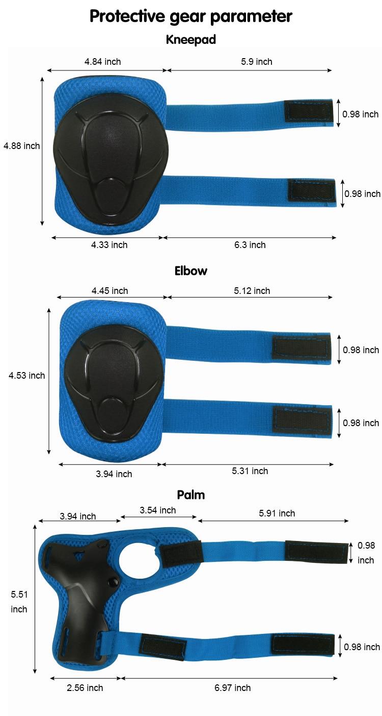 LANOVA Protector 7Pcs / set Velosiped Skateboard Kask Dirsək Diz - İdman geyimləri və aksesuarları - Fotoqrafiya 6