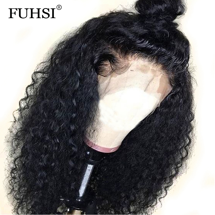 13X6 Deep Part Curly Lace Front Human Hair Wigs For Black Women Brazilian Remy Hair Pre