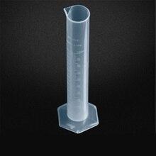 1 шт 100 мл пластиковый измерительный цилиндр для лабораторных принадлежностей, инструменты для химии, школьные лабораторные принадлежности