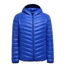 2016 Fall Winter Jacket men 90 Duck Down fashion men jacket Ultralight Thin With Hood Outerwear Winter Parka