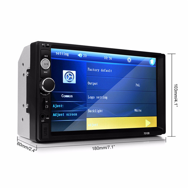 7010B Universal 2 Din Car MP5 Player Car Video Player Touch Screen Auto Audio Stereo Multimedia FM/MP5/USB/AUX/Bluetooth Camera universal 2 din car video player auto audio stereo mp5 player 7 2din car dvd player usb fm bluetooth support rear view camera