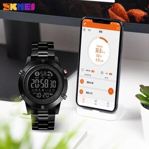 Image 4 - SKMEI montre connectée avec podomètre, calories, horloge dactivité physique, numérique, moniteur de fréquence cardiaque et de sommeil, Bluetooth montre pour hommes