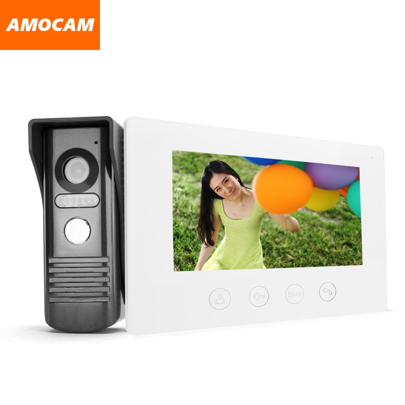 7 Inch Touch LCD Monitor wired video intercom Doorbell Door Phone Door Viewer Night Vision Home Security Surveillance System
