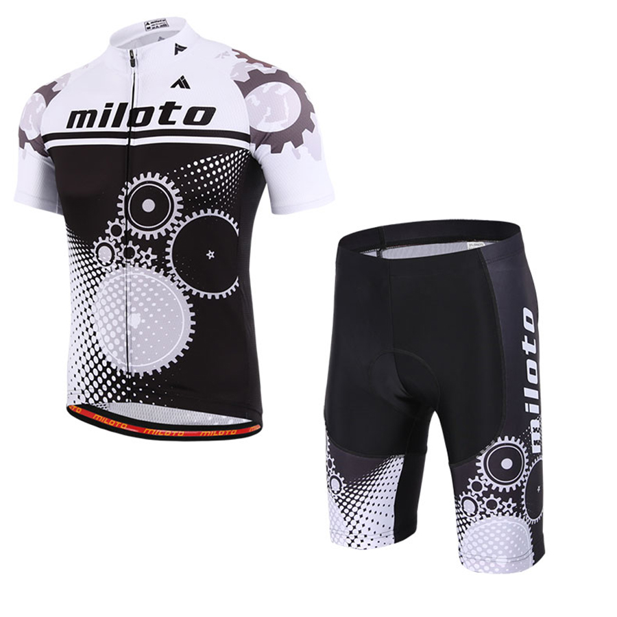 Cycling Jerseys Set White Black Polyester Spandex Breathable Bike Clothing Suit Bib Shorts Maillot Conjunto Ciclismo Sportwear