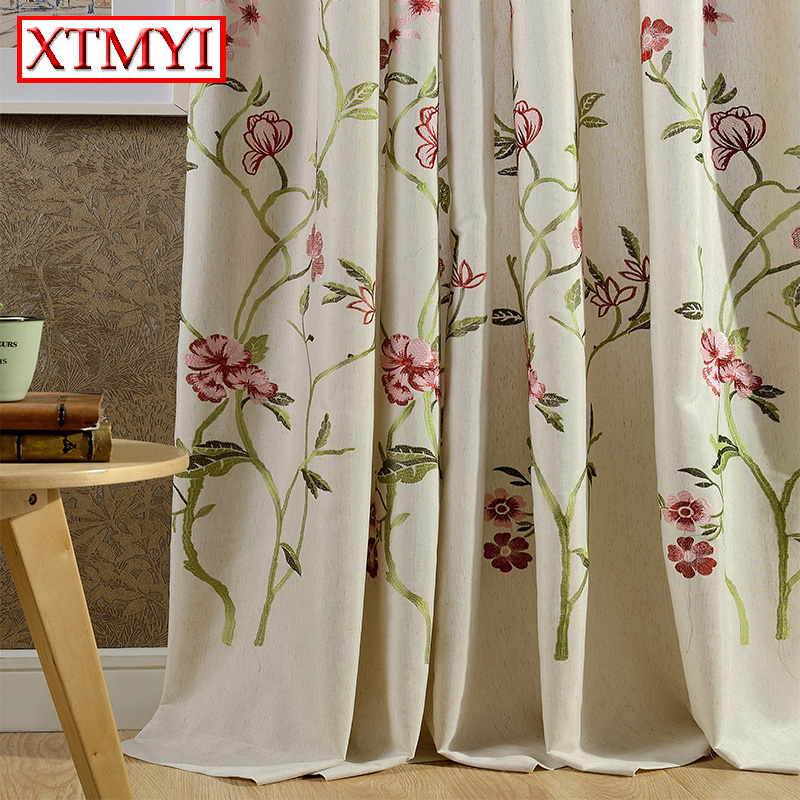 Hot Sale Japan Embroidered Blackout Curtains For Living