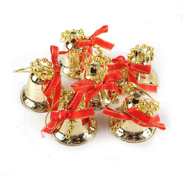 gold mini christmas bells christmas tree decorations 35cm christmas decorations straps 17g