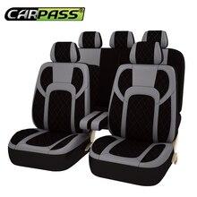 Car-pass Fundas de los Asientos de automóviles 13 UNIDS Completo Extrema Universal de LA PU Leather Car Seat Covers Protector Accesorios Del Coche