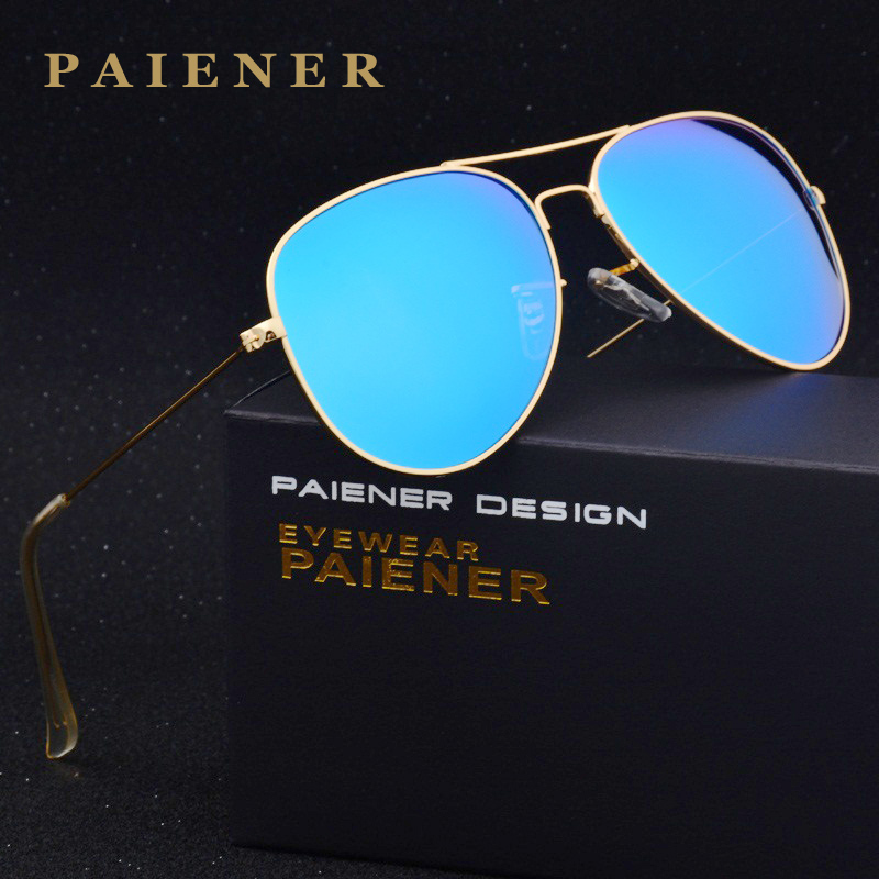 Mode lunettes de soleil Polarisées Unisexe Classique Aviation lunettes de Soleil hommes Femmes Marque Designer Pilote Lunettes de Soleil Avec Accessoires
