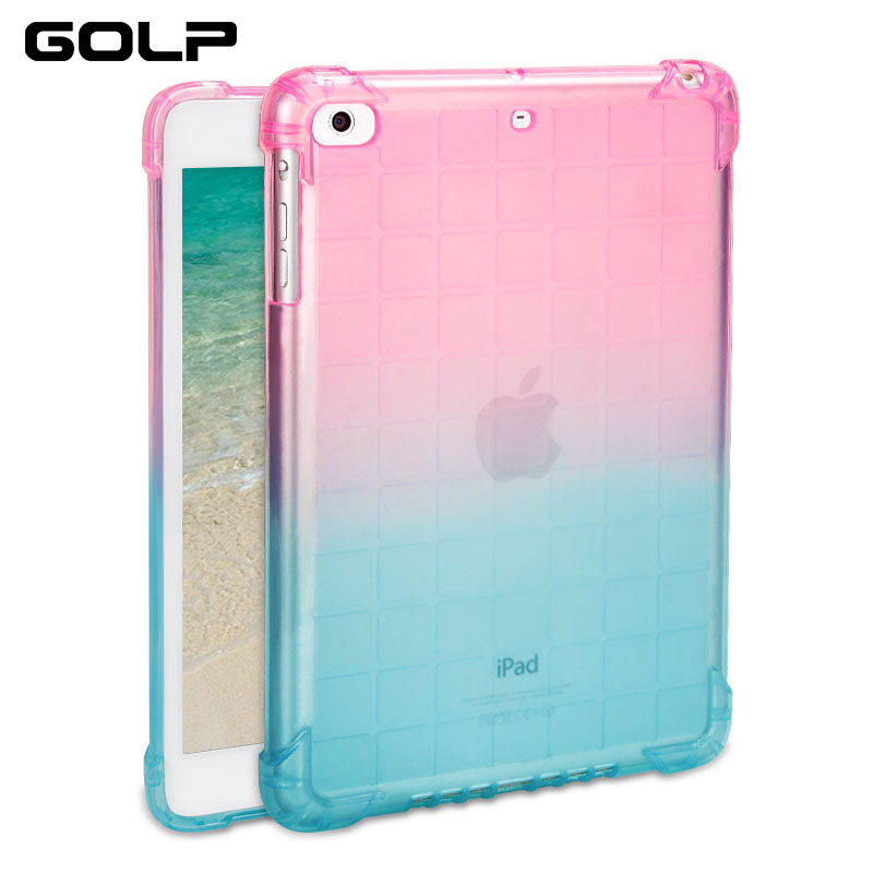 For ipad Mini Case, Gradient Soft TPU Back Case for ipad Mini 1 2 3 4 Coque Slim Silicone Protective shell Cover for ipad mini 4 аккумуляторная дрель шуруповерт bort bab 14u dk